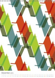 ABSTRACT PATTERN (Wall Calendar 2015 DIN A3 Portrait)