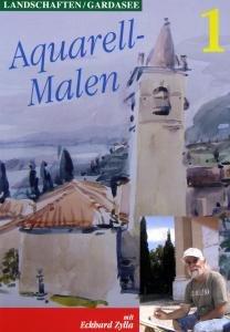 AQUARELL-MALEN-Landschaft.Gardasee 1+2