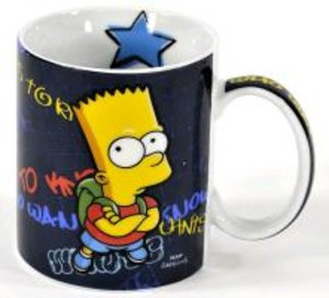 "The Simpsons Tasse Bart Simpson ""Who wants to know"""
