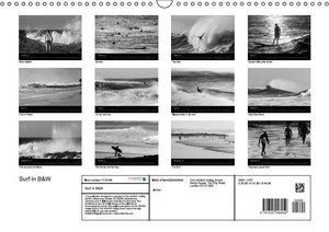 Surf in B&W (Wall Calendar 2015 DIN A3 Landscape)