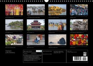Vietnam (UK-Version) (Wall Calendar 2015 DIN A3 Landscape)