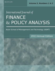 International Journal of Finance and Policy Analysis (2013 Annua