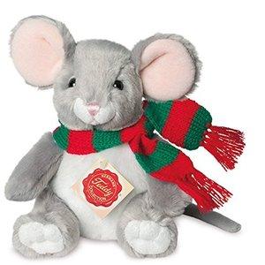 Teddy Hermann 92602 - Weihnachtsmaus sitzend