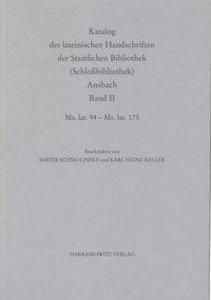 Katalog der lateinischen Handschriften der Staatlichen Bibliothe