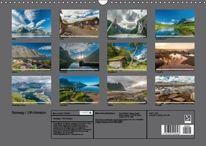 Norway / UK-Version (Wall Calendar 2015 DIN A3 Landscape)