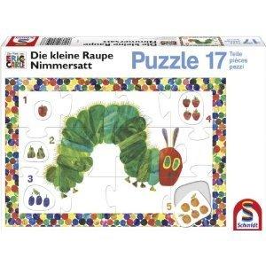 Die kleine Raupe Nimmersatt - Lernpuzzle Zahlen, 17 Teile
