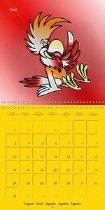 My crazy family - Naughty birds (Wall Calendar 2015 300 × 300 mm