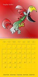 My crazy family - Naughty birds (Wall Calendar 2015 300 × 300 mm