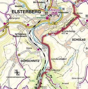 Vogtland Panorama Weg. Kartenmappe mit 11 Karten