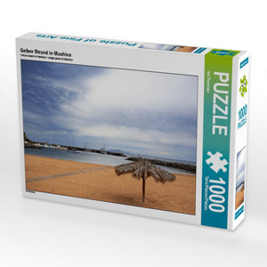 Gelber Strand in Machico 1000 Teile Puzzle quer