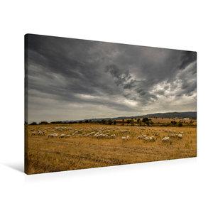 Premium Textil-Leinwand 90 cm x 60 cm quer Wilde Landschaft