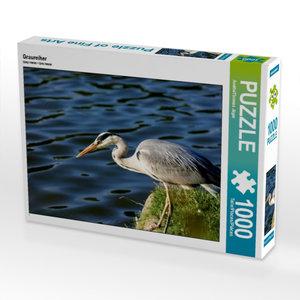 Graureiher 1000 Teile Puzzle quer