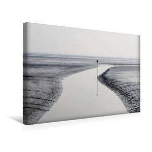 Premium Textil-Leinwand 45 cm x 30 cm quer Das Stille Watt