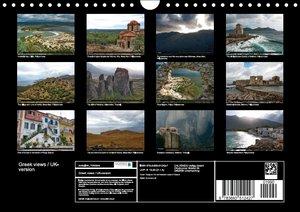 Greek views / UK-version (Wall Calendar perpetual DIN A4 Landsca