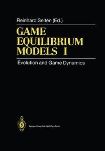 Game Equilibrium Models I