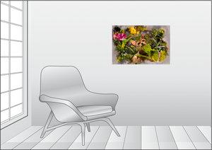 Premium Textil-Leinwand 75 cm x 50 cm quer Beobachten bei Sonnen