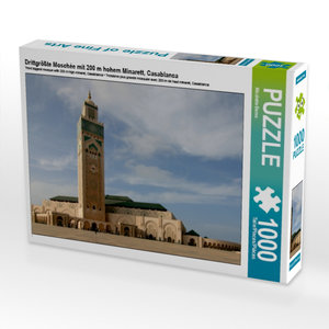 Drittgrößte Moschée mit 200 m hohem Minarett, Casablanca 1000 Te