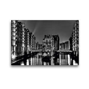 Premium Textil-Leinwand 45 cm x 30 cm quer Speicherstadt