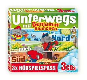Benjamin Blümchen - Unterwegs mit Benjamin, 3 Audio-CD