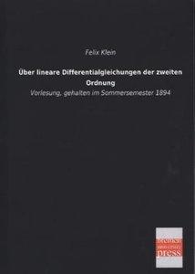 Über lineare Differentialgleichungen der zweiten Ordnung