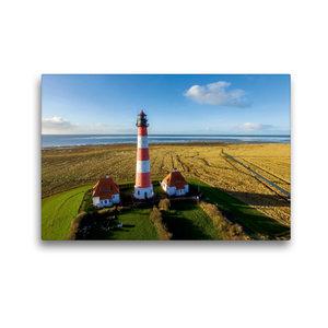 Premium Textil-Leinwand 45 cm x 30 cm quer Leuchtturm Westerheve