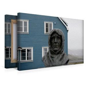 Premium Textil-Leinwand 45 cm x 30 cm quer Statue des erfolgreic