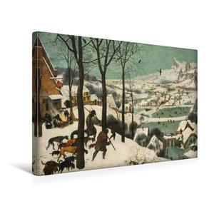 Premium Textil-Leinwand 45 cm x 30 cm quer Jäger im Schnee (Wint