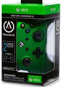 PowerA Wired Controller, Emerald Fade, für Xbox One und PC, grün