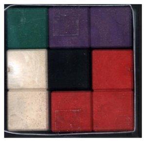 SOMA - Würfel, 7 farbige Elemente aus RE-Wood®