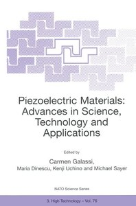 Piezoelectric Materials: Advances in Science, Technology and App