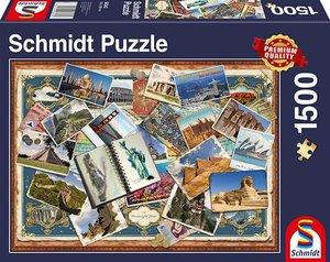 Schmidt 58343 - Grüße aus aller Welt, 1500 Teile, Premium-Puzzle