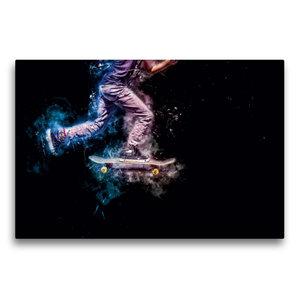 Premium Textil-Leinwand 75 cm x 50 cm quer Skateboarding