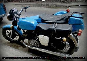 Motorrad-Gespanne in Kuba (Wandkalender 2019 DIN A2 quer)