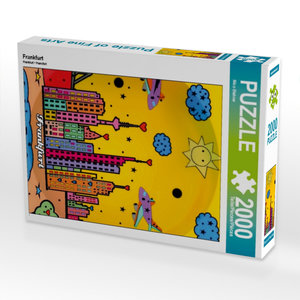 Frankfurt 2000 Teile Puzzle hoch
