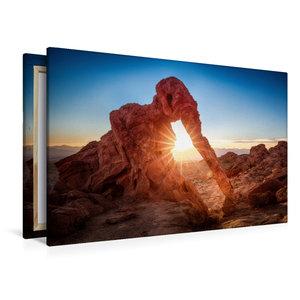 Premium Textil-Leinwand 120 cm x 80 cm quer elephant rock - vall