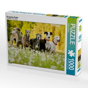 Ein ganzes Rudel 1000 Teile Puzzle quer