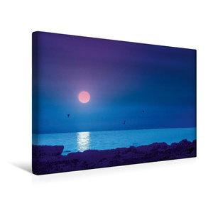 Premium Textil-Leinwand 45 cm x 30 cm quer Strand und Meer