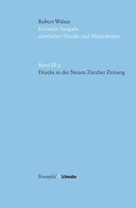 Drucke in der Neuen Zürcher Zeitung