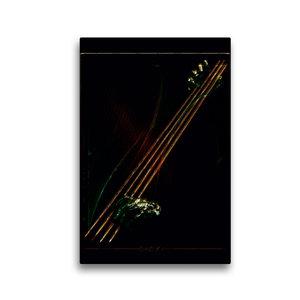 Premium Textil-Leinwand 30 cm x 45 cm hoch Jazz Bass