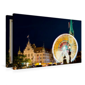 Premium Textil-Leinwand 90 cm x 60 cm quer Riesenrad vor histori