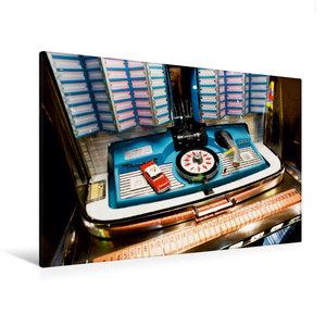 Premium Textil-Leinwand 120 cm x 80 cm quer Wurlitzer Jukebox Sc