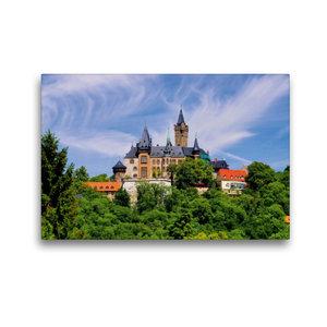 Premium Textil-Leinwand 45 cm x 30 cm quer Schloss Wernigerode