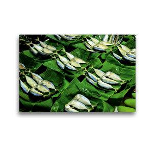 Premium Textil-Leinwand 45 cm x 30 cm quer Fisch auf dem Markt