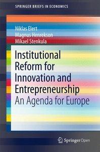 Institutional Reform for Enhanced Innovation and Entrepreneurshi