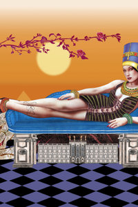 Premium Textil-Leinwand 80 cm x 120 cm hoch das Stadtschloss mi