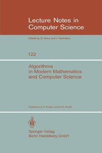 Algorithms in Modern Mathematics and Computer Science