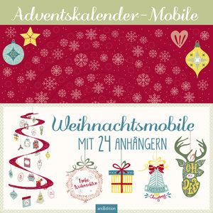 Weihnachts-Mobile mit 24 Anhängern