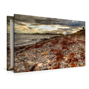 Premium Textil-Leinwand 120 cm x 80 cm quer Nordküste