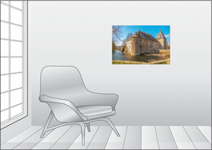 Premium Textil-Leinwand 75 cm x 50 cm quer Haus Kemnade, am Kemn