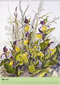 Die Flora in Baden-Württemberg (Wandkalender 2020 DIN A2 hoch)